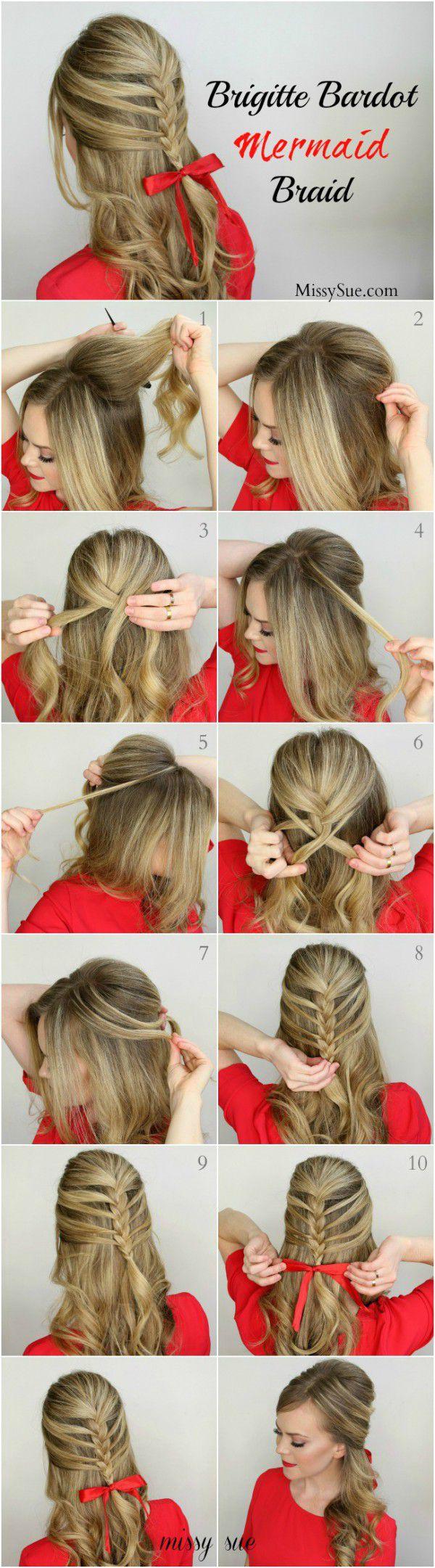 Причёски для девочек поэтапно легко