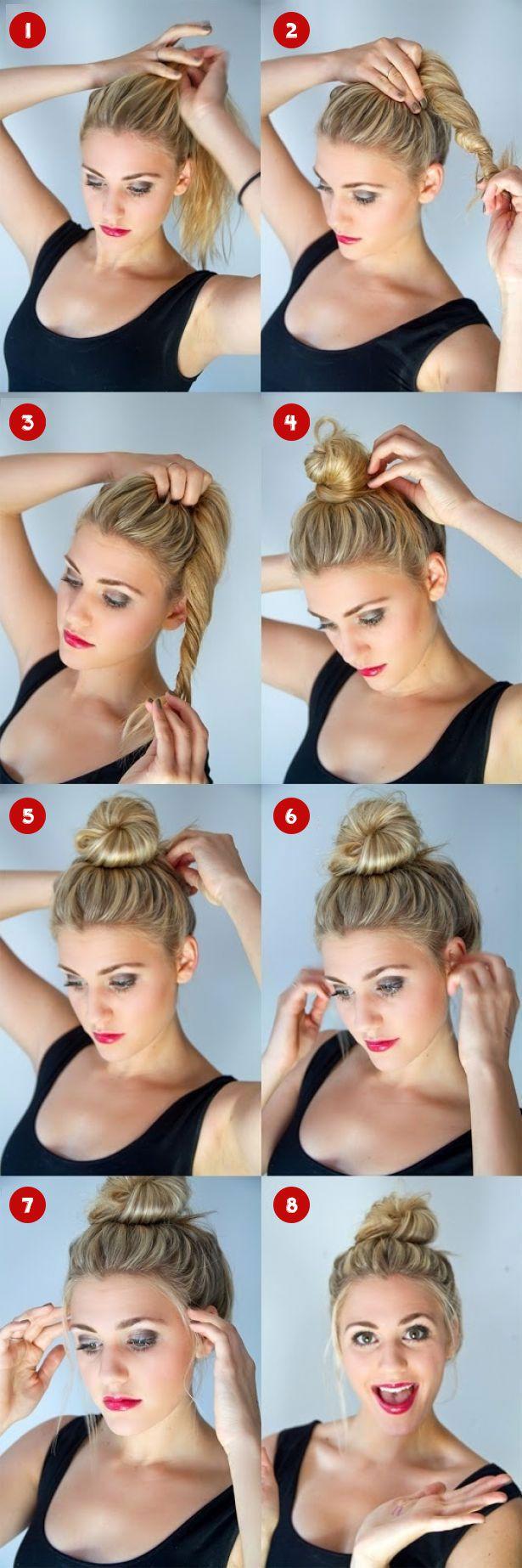 Как сделать модную причёску