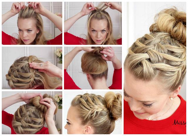 Простые прически для волос средней длины на каждый день в домашних условиях