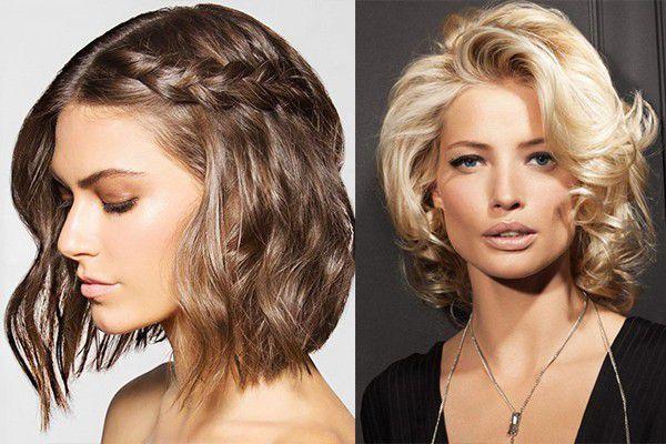 вечерние красивые причёски на средние волосы фото