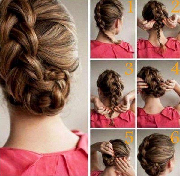 Прическа средний волос на день рождение пошагово