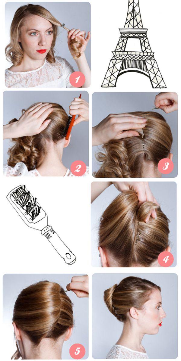Легкие прически для волос средней длины
