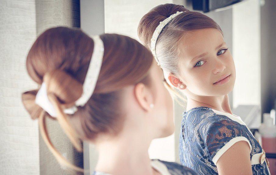 Детская причёска на новый год фото