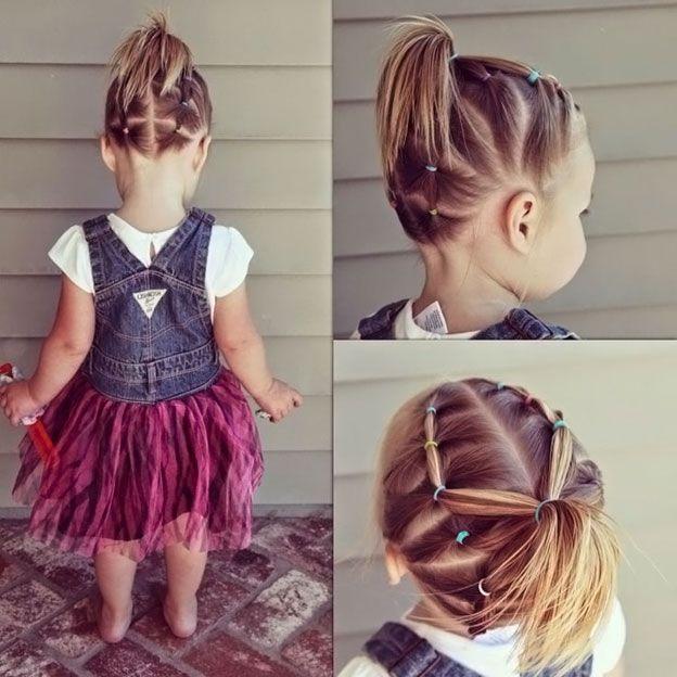 Причёски на короткий волос своими руками детям 995