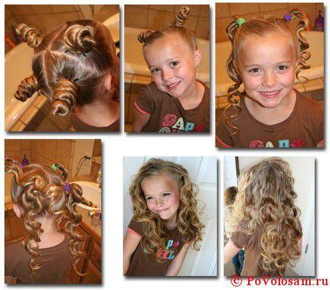 детские прически с кудрями на длинные волосы