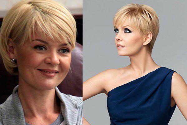 Стильные стрижки на короткие волосы для женщин 40 лет