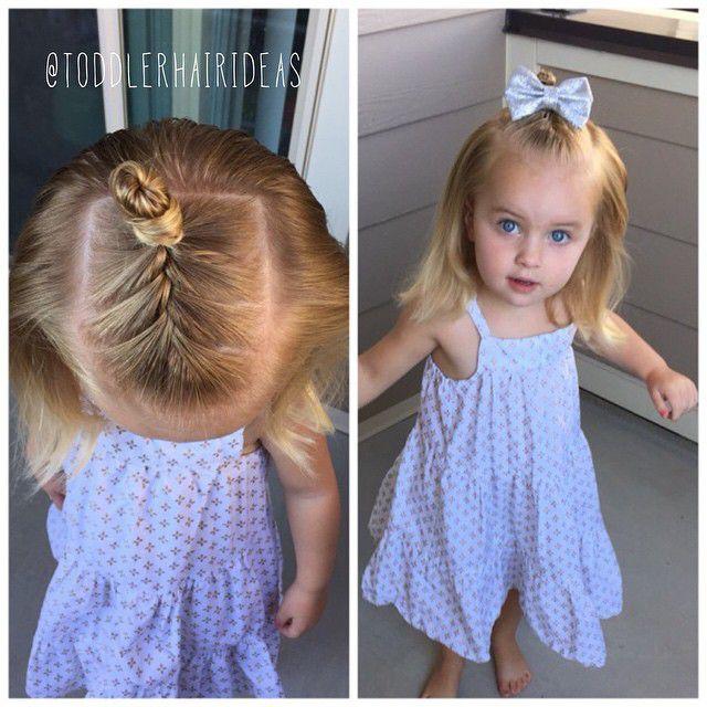 Прическа на короткие волосы детям