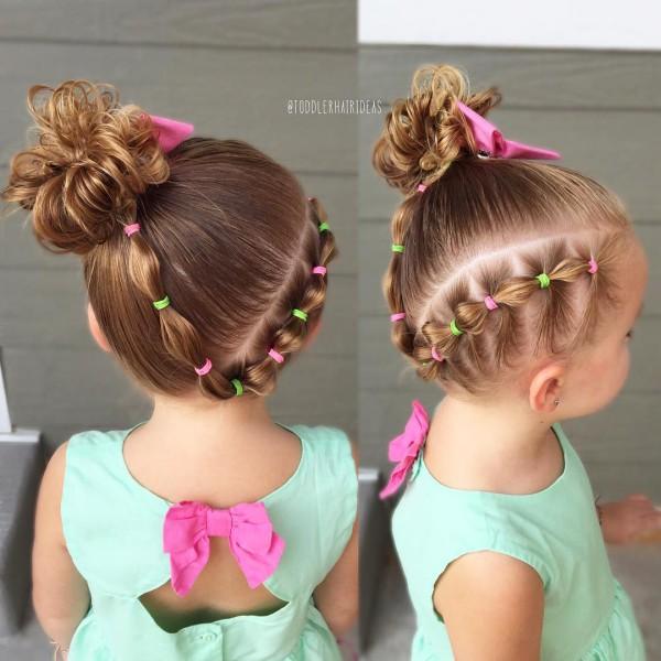 Причёски на детей на короткие волосы фото