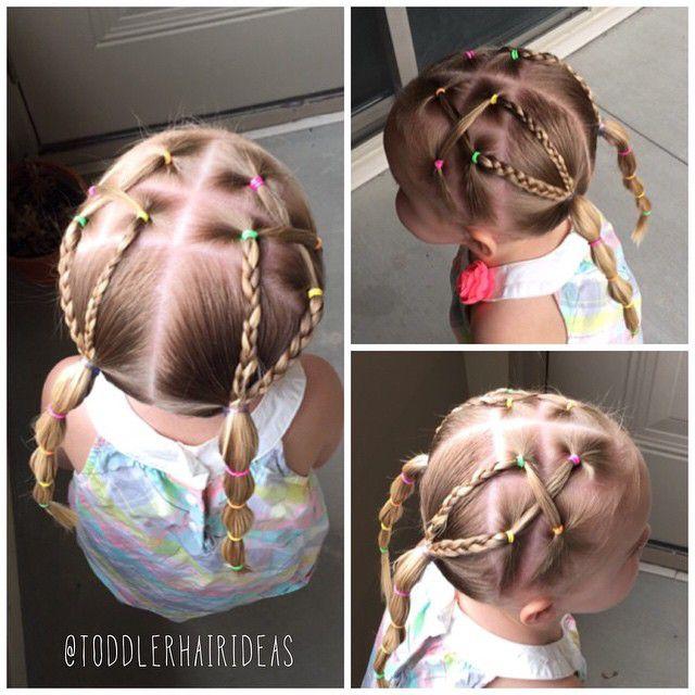 Плетение косичек на маленьких девочках
