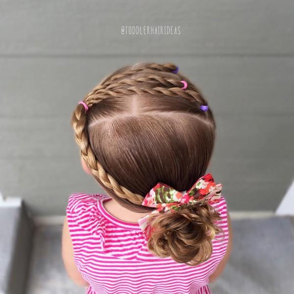 Простая детская причёска фото