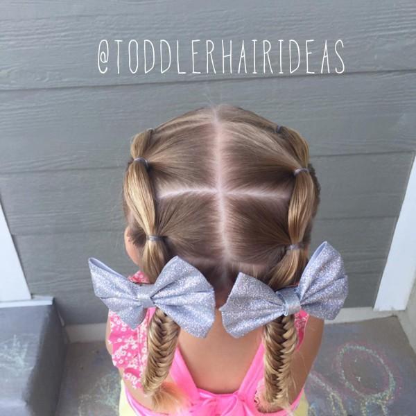 Причёски для девочек схемы фото