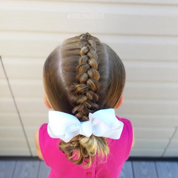Косички для девочек - простые детские прически для девочек