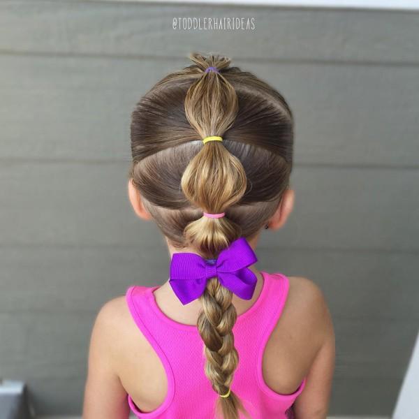 Фото причесок для девочек быстрые прически