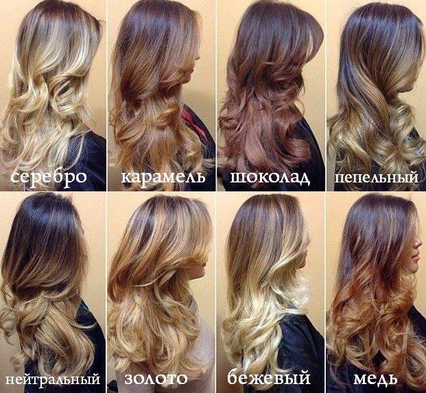Пшеничный цвет волос мелирование