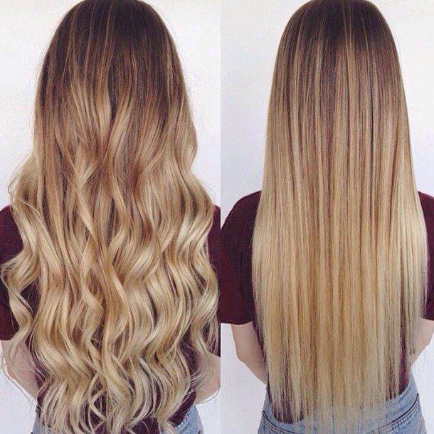 фото девушек с волнистыми волосами со спнины