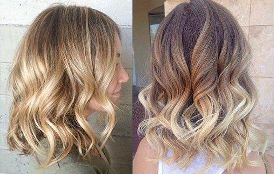 Шатуш на светлые короткие волосы