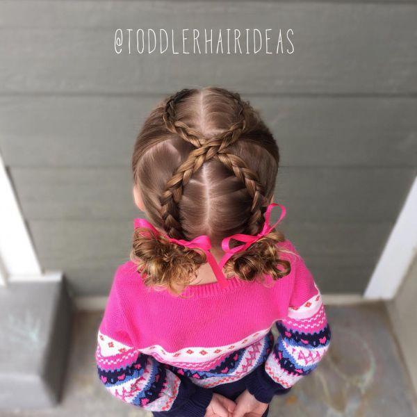 Легкие прически для девочек в садик на каждый день пошаговое фото