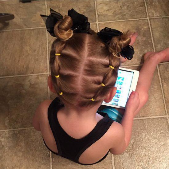 Косички для девочек - простые детские прически