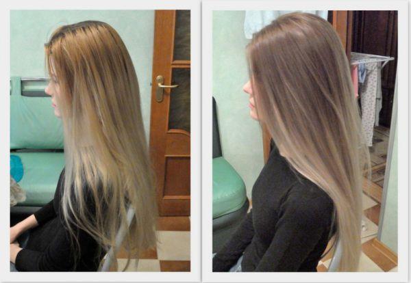 Окрашивание волос в блондинку в домашних условиях видео