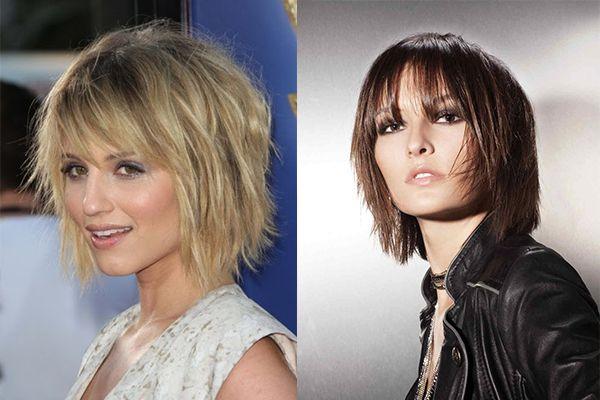 Стрижки для волос средней длины: фото для темных волос.